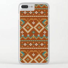 Pattern in Grandma Style #46 Clear iPhone Case