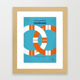No815 My Overboard minimal movie poster Framed Art Print