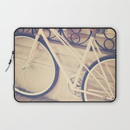 Pierina's Pink Bicycle  - Retro and Vintage Photography Laptop Sleeve