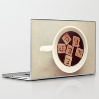 coffee Laptop & iPad Skins featuring COFFEE by elle moss