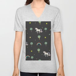 Unicorns Unisex V-Neck