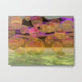 Peace in the Storm - Abstract Bronze Tranquility Metal Print