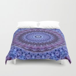 Mandala in violet and blue tones Duvet Cover