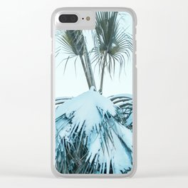 Palm and Snow Clear iPhone Case