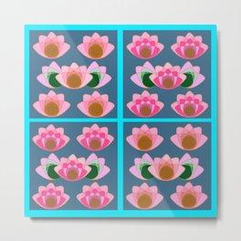 Pink lotus field Metal Print