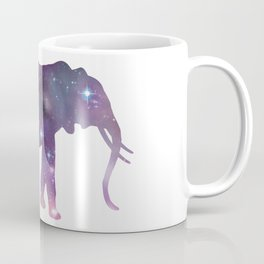 Elephant Spirit Animal - Galaxy Elephant Silhouette Coffee Mug