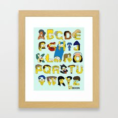 Simpsons Alphabet Framed Art Print