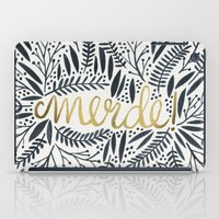french iPad Cases featuring Pardon My French – Black & Gold by Cat Coquillette