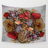 alice wonderland Wall Tapestries featuring Wonderland by HeatherIRELANDArtz