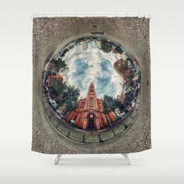 'Apostelkirche 360º Panorama' Shower Curtain