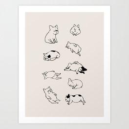 More Sleep Frenchie Art Print