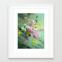 country Framed Art Prints featuring country flowers by Joke Vermeer