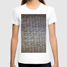 Earthy reeds woven T-shirt