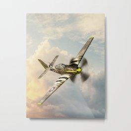 P-51 Mustang World War II Fighter Plane Metal Print
