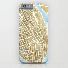 Charleston, South Carolina City Map Art Print Slim Case iPhone 6s
