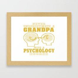 Psychology Grandpa Framed Art Print
