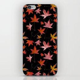 Dead Leaves over Black iPhone Skin