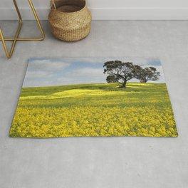 Canola Landscape in Australia Rug