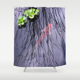 GoldFish In The Pond By Annie Zeno Shower Curtain