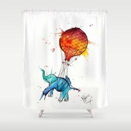 HOT AIR ELEPHANT Shower Curtain