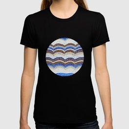 Blue antique mosaic T-shirt