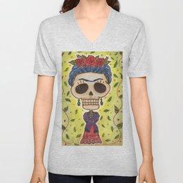 Frida Day of the Dead Unisex V-Neck