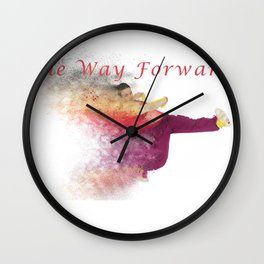 Famous humourous quotes series: The way forward. Exploding hiphop dancer  Wall Clock