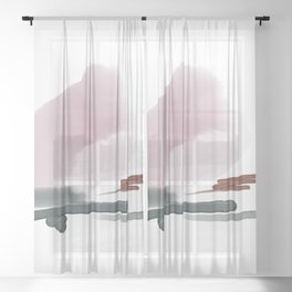 Introversion I Sheer Curtain
