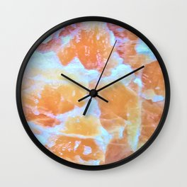Citrine Dreams Wall Clock
