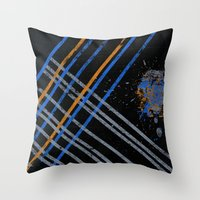 grid Throw Pillows featuring Grid by Last Call
