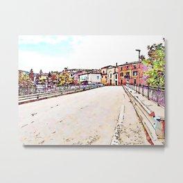 Fognano: road and buildings Metal Print