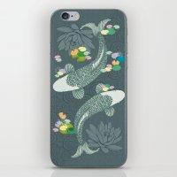 koi iPhone & iPod Skins featuring Koi by Amanda Dilworth