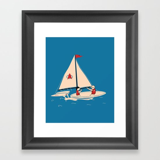 Sailing Towards Future Unknowns Framed Art Print