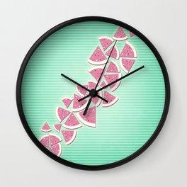 work in progress fruit Wall Clock
