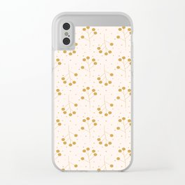 Yellow branches Clear iPhone Case
