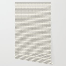 Simple monochrome mudcloth inspired ethnic pattern - black on off white Wallpaper