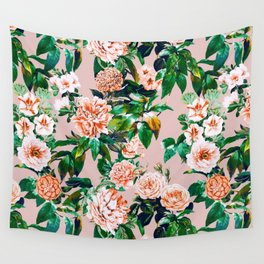 Pink garden Wall Tapestry