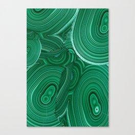 Green Malachite Nature Pattern Design Abstract Canvas Print