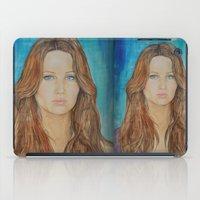jennifer lawrence iPad Cases featuring Jennifer Lawrence by Jenn