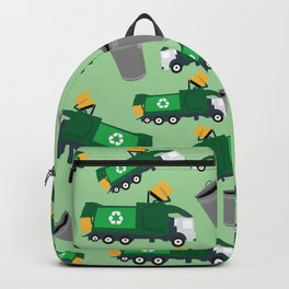 Recycling Garbage Truck Pattern Backpack