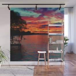 Sunset on Lake St. Clair in Belle River, Ontario, Canada Wall Mural