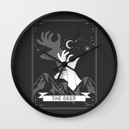 The Deer Chinese Shadow Wall Clock