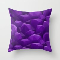 geode Throw Pillows featuring Geode by Screen Candy