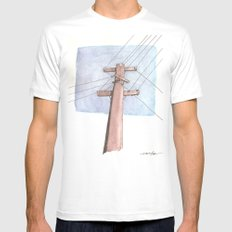 In a Network of Lines that Intersect Mens Fitted Tee White MEDIUM