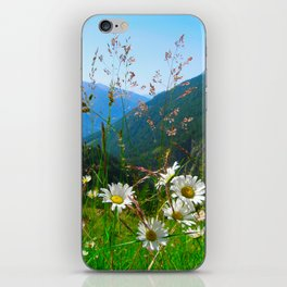 Camomiles in the Alps iPhone Skin