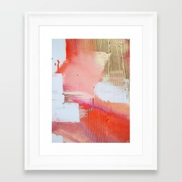 Moving Mountains: a minimal, abstract piece in reds and gold by Alyssa Hamilton Art Framed Art Print