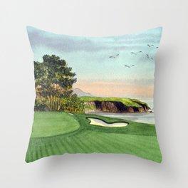 Pebble Beach Golf Course 5th Hole Throw Pillow