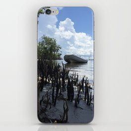 Dinghy in the Mangroves iPhone Skin
