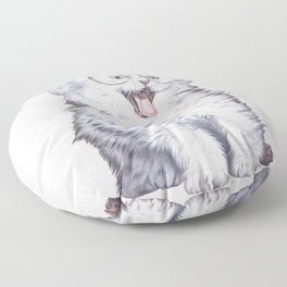 A cat with glasses Floor Pillow