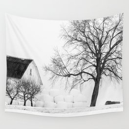 Winter on the Farm Wall Tapestry